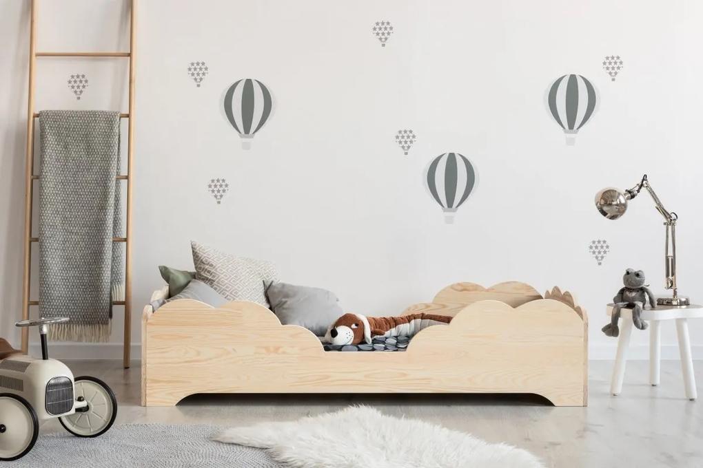 MAXMAX Detská posteľ z masívu BOX model 10 - 190x90 cm 190x90 pre dievča pre chlapca pre všetkých NIE