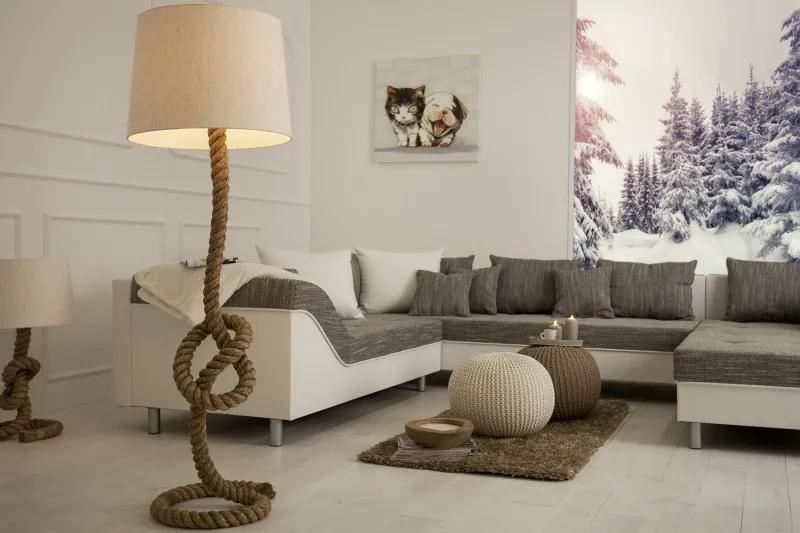 Masiv24 - Stojaca lampa SEVER SEAN 160 cm - krémová