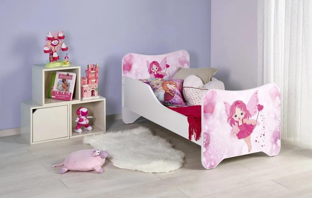 Detská posteľ HAPPY FAIRY biela / ružová Halmar