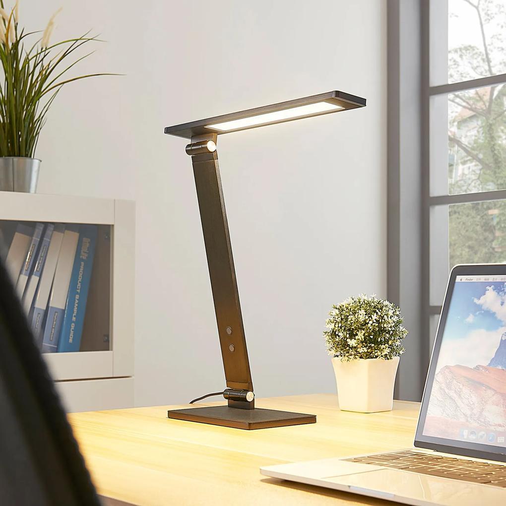 Salome stmievateľná LED lampa písací stôl čierna