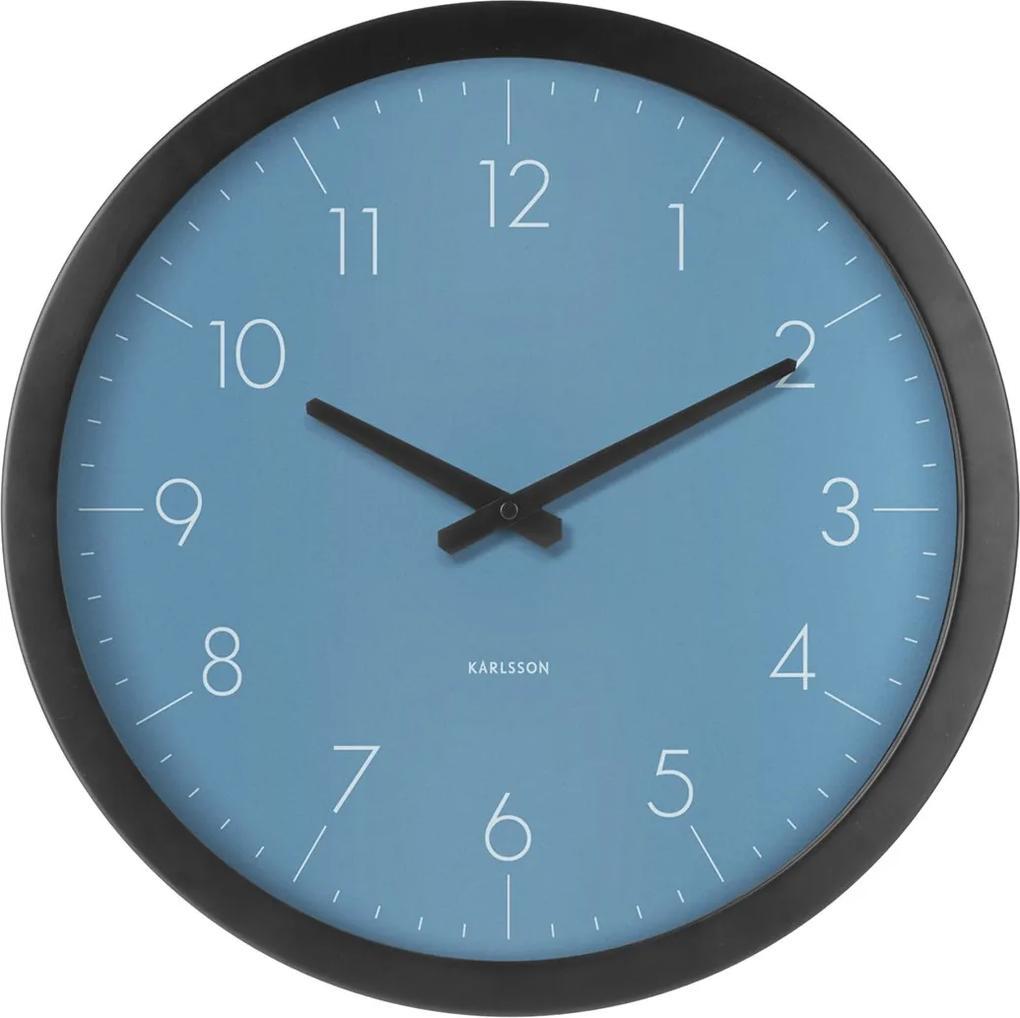 KARLSSON Nástenné hodiny Dainty Outside modré