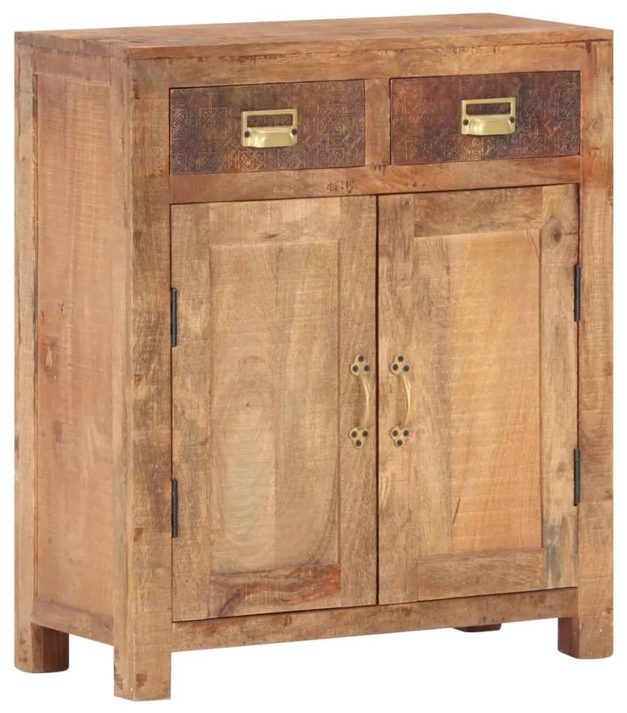 vidaXL Komoda 65x30x75 cm masívne surové mangovníkové drevo