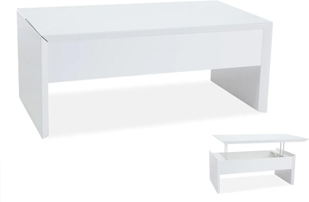 Najlacnejsinabytok ALIEN konferenčný stolík, biely lesk