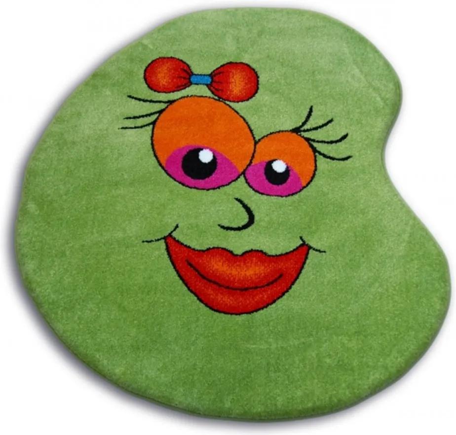 Detský kusový koberec Fazuľa zelený, Velikosti 100cm
