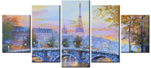 Tlačený obraz Na moste v Paríži 150x70cm 3536A_5B