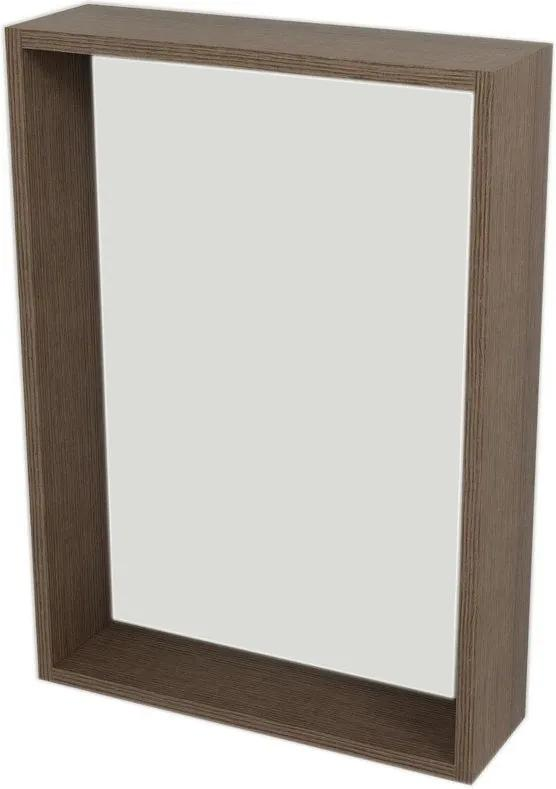 Riwa RW512 policové zrkadlo 50x70x15 cm, borovica rustik