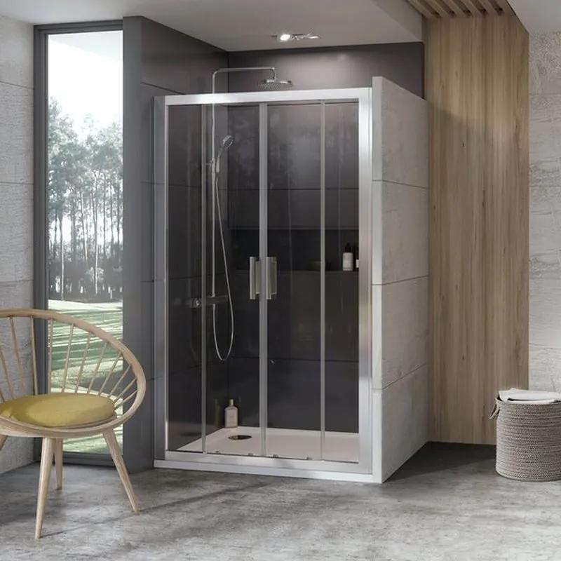 RAVAK 10 ° 10DP4 Sprchové dvere 140x190 cm, lesklý Alubright 0ZKM0C00Z1