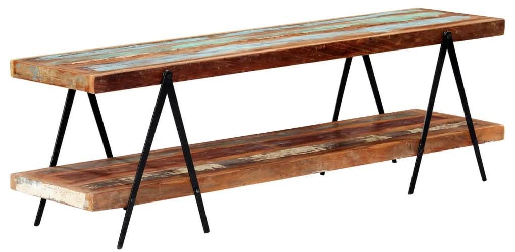vidaXL TV skrinka 160x40x50 cm masívne recyklované drevo