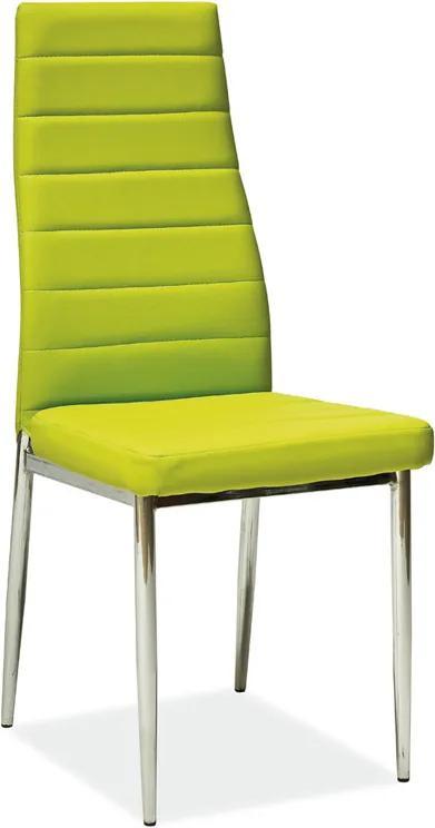 Jedálenská stolička H-261, zelená
