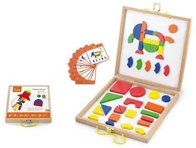Viga   Nezaradené   Drevený kufrík s magnetickými kockami pre deti Viga   Multicolor  