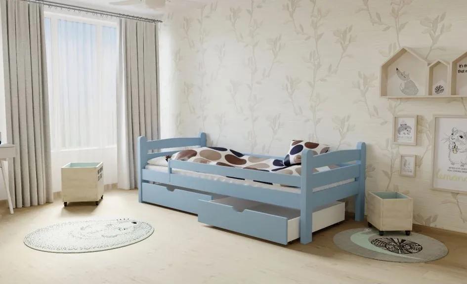 MAXMAX Detská posteľ z masívu 200x90cm bez šuplíku - M01