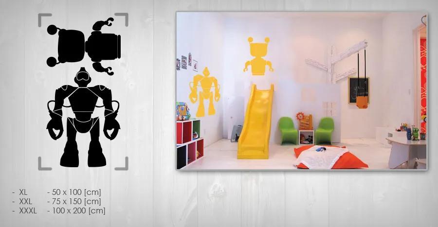 Nálepka na stenu  ROBOTI NARO001