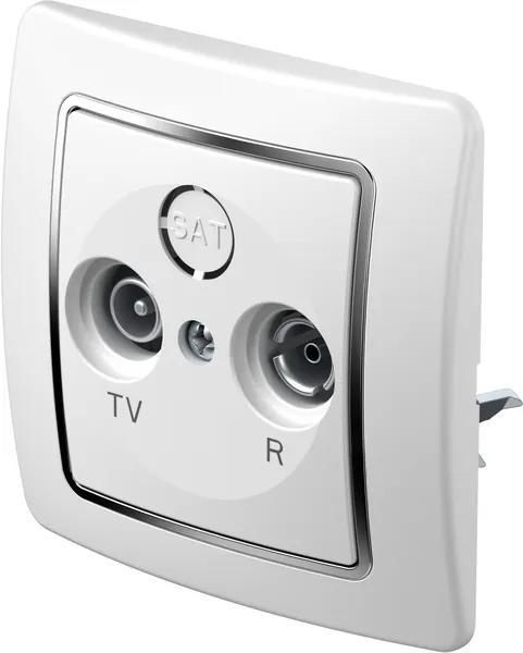 KE11 | Zásuvka TV-R koncová 2dB Farba: Biely duroplast
