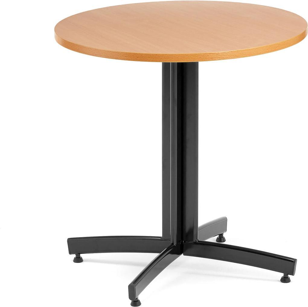 Jedálenský stôl Sanna, okrúhly Ø 700 x V 720 mm, buk / čierna