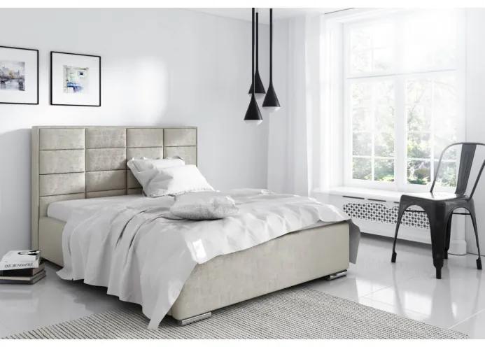 Elegantní manželská postel Caffara 120x200, šedá