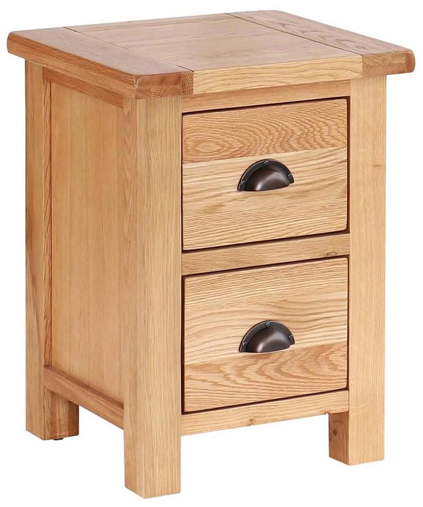 Úzky nočný stolík s 2 zásuvkami 450x400x600