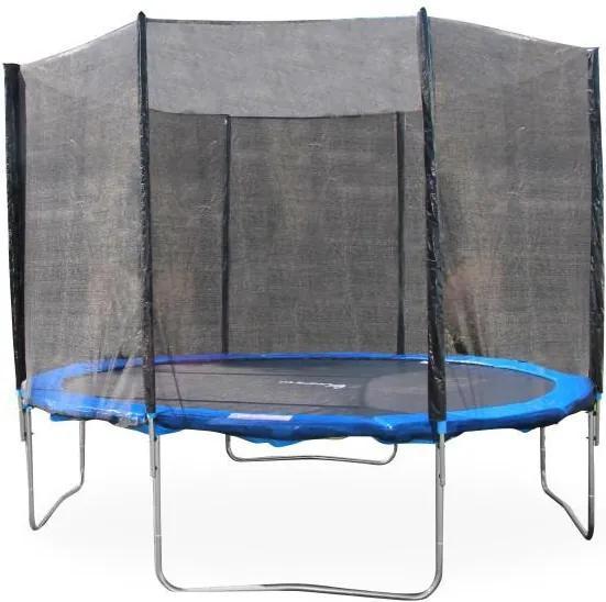 Trampolína s ochrannou sieťou, 183 cm, modrá/čierna, JUMPY 1