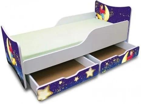 MAXMAX Detská posteľ 200x90 cm so zásuvkou - NOČNÝ LET 200x90 pre dievča ÁNO