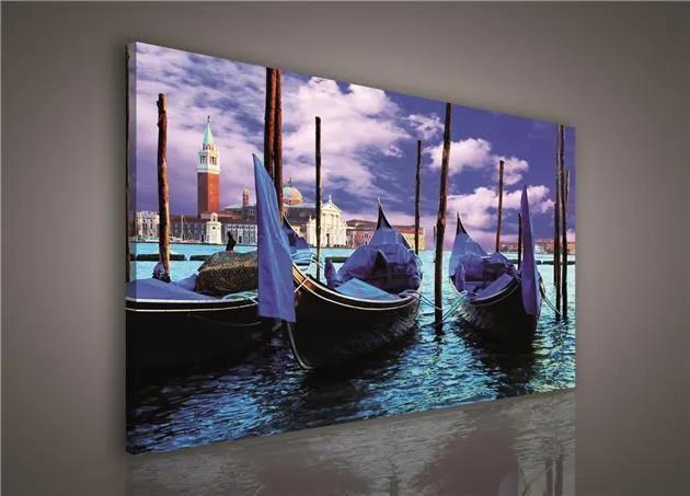 Obraz na plátne, rozmer 75 x 100 cm, Benátky, IMPOL TRADE 125O1