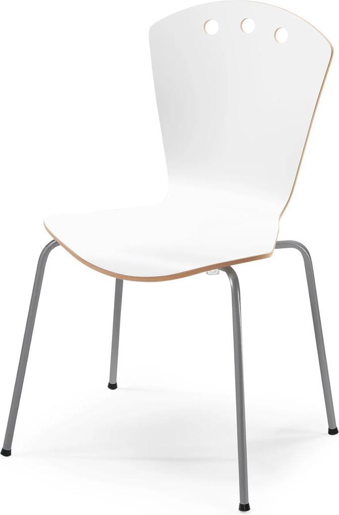 Jedálenská stolička Orlando, biela / šedá