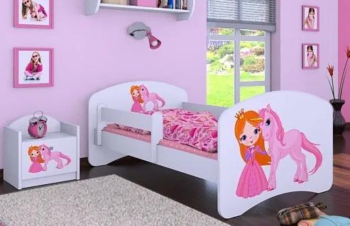 MAXMAX Detská posteľ bez šuplíku 160x80cm PRINCEZNÁ A JEDNOROŽEC