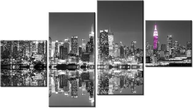 Tlačený obraz Nočný Manhattan v New Yorku 160x90cm 2203A_4Q
