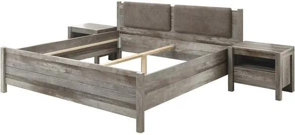 Sconto Posteľ s nočnými stolíkmi MARACANA driftwood, 180x200 cm