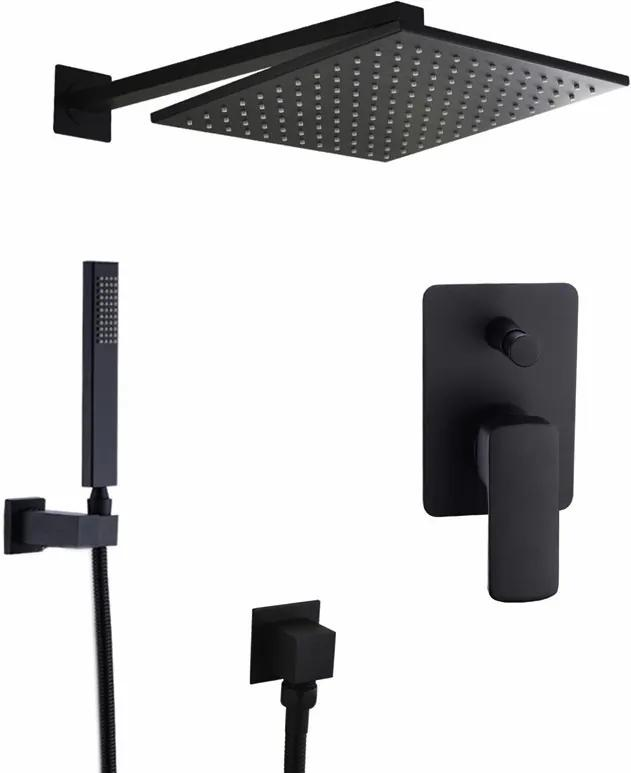 Čierny Podomietkový sprchový set - 2 varianty Sprchová