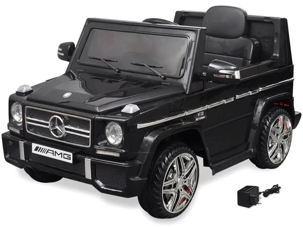 Detské elektrické auto SUV s 2 motormi, čierne, Mercedes Benz G65