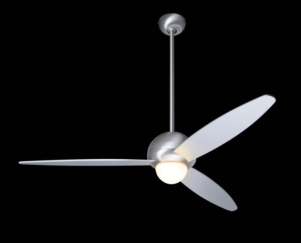 """MODERN FAN EU PLUM PLU-GW42ALNL 42"""" lesklá biela/hliník Reverzný stropný ventilátor"""