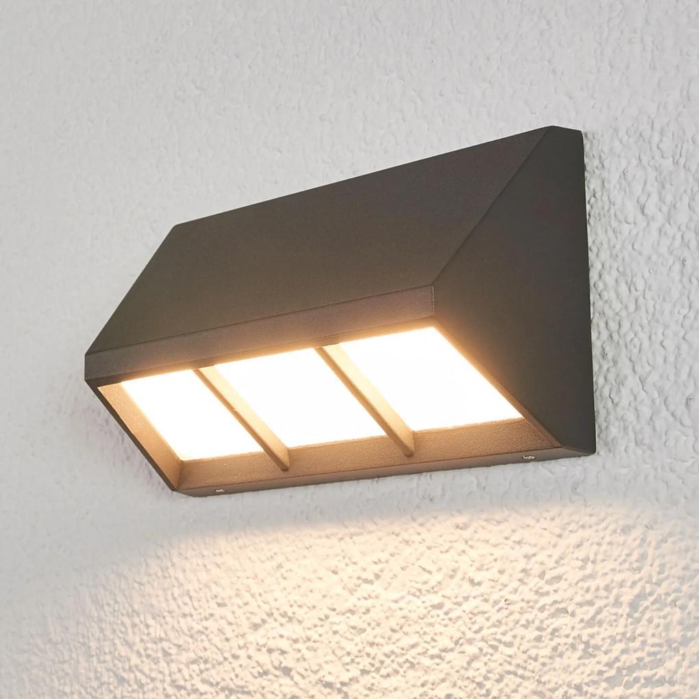 Vonkajšie nástenné LED svetlo Cedrick tmavosivé 20