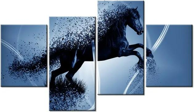 Tlačený obraz Modrý kôň – Jakub Banas 120x70cm 3574A_4AA