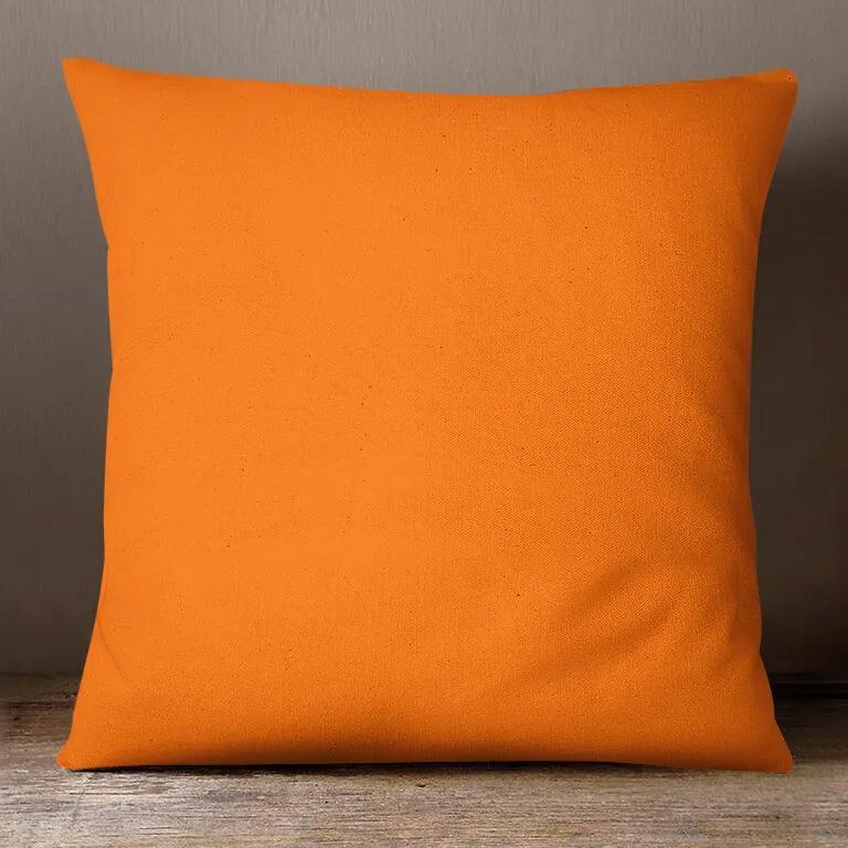 Goldea bavlnená obliečka na vankúš - oranžová 70 x 90 cm