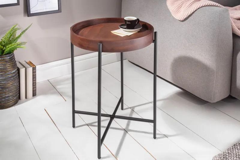 Odkladací stolík Elements 43cm moka buk