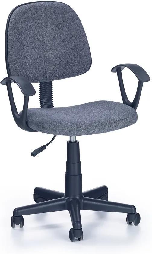 MAXMAX Detská otočná stolička DAMIAN šedá