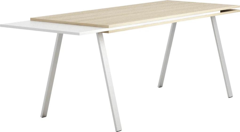 Pracovný stôl dlhší Wood BOARDS, dub prírodný dub prírodný / biela 1700 750 750 rovný BOARDS