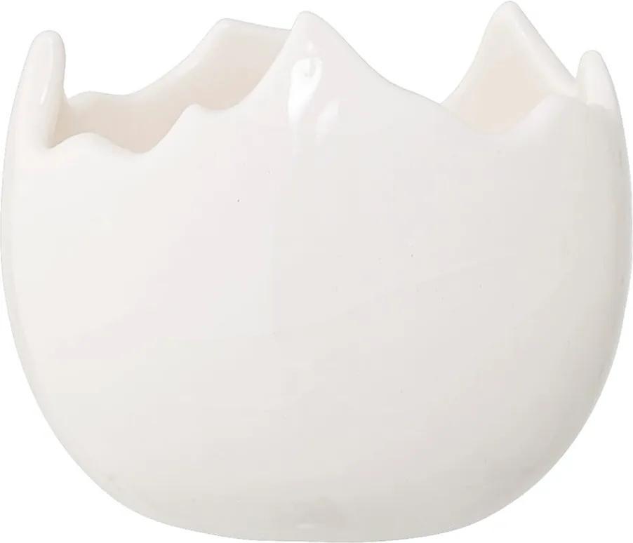 Biely kameninový svietnik Bloomingville Easter, ⌀ 7,5 cm