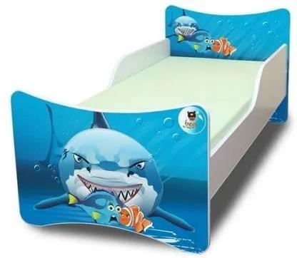 MAXMAX Detská posteľ 180x90 cm - ŽRALOK 180x90 pre chlapca NIE
