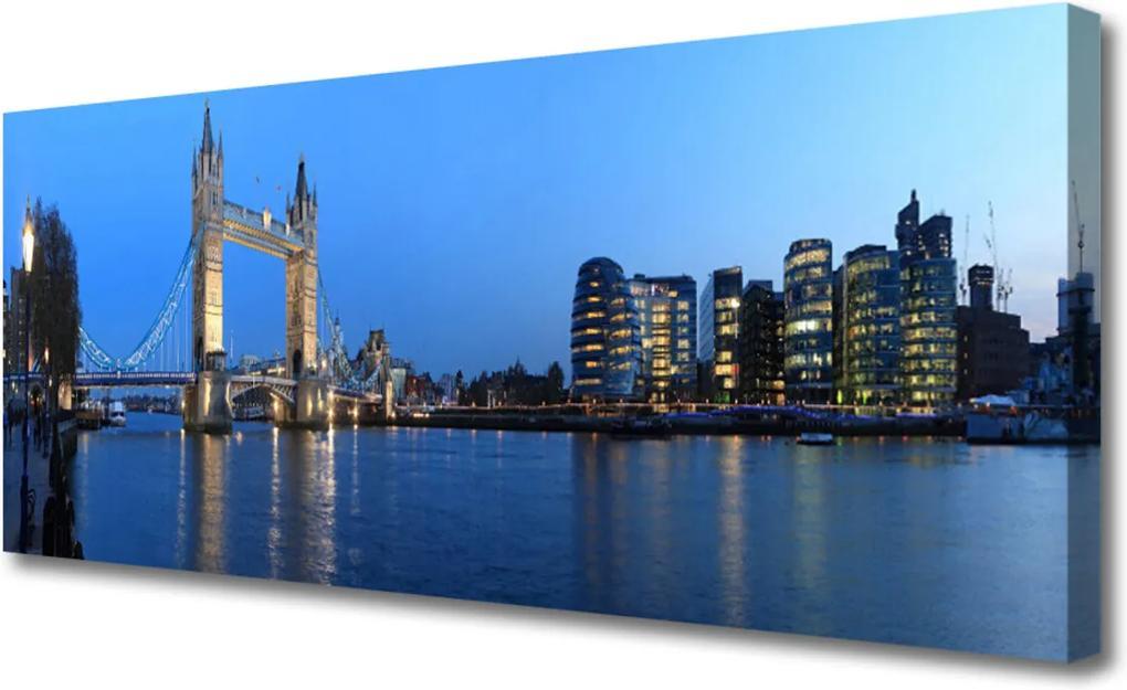 Obraz na plátně Most město architektura