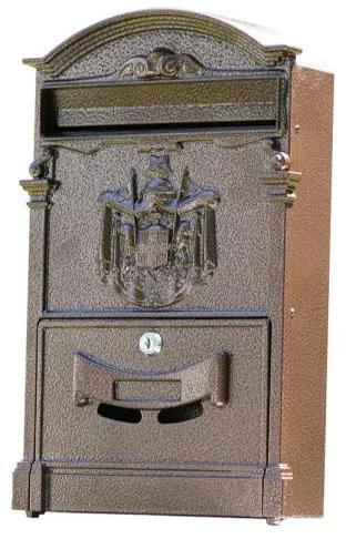 Poštová schránka 65.202 medená farba, 405 x 255 x hĺbka 90 mm