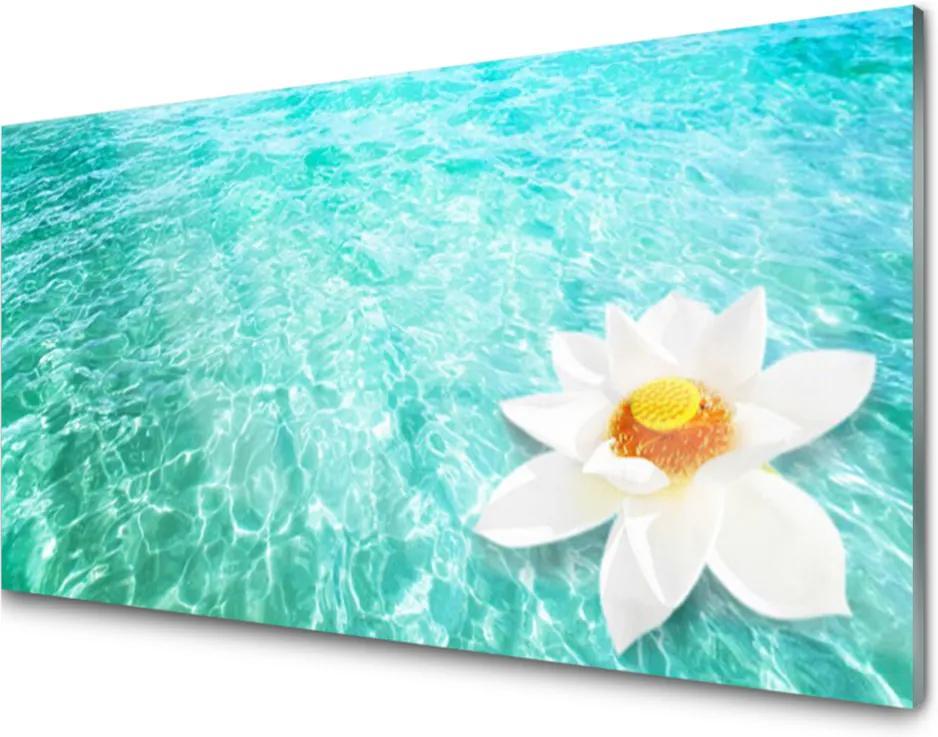 Skleněný obraz Skleněný voda květ umění