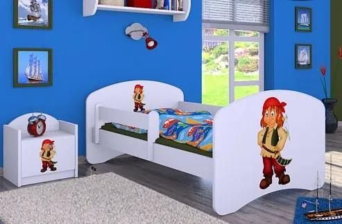 MAXMAX Detská posteľ bez šuplíku 160x80cm PIRÁT