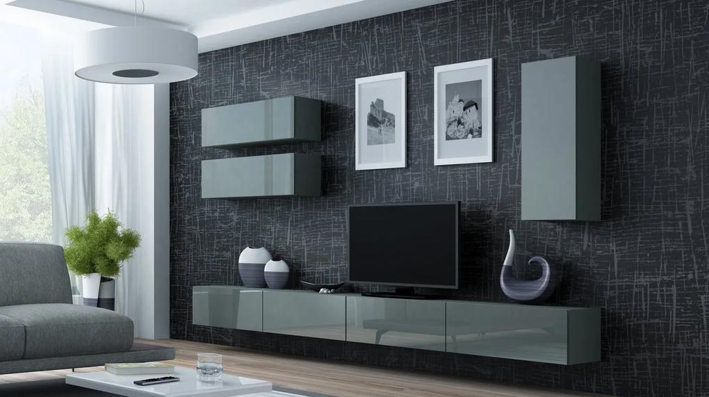 CAMA MEBLE Obývacia stena VIGO 13 Farba: sivá