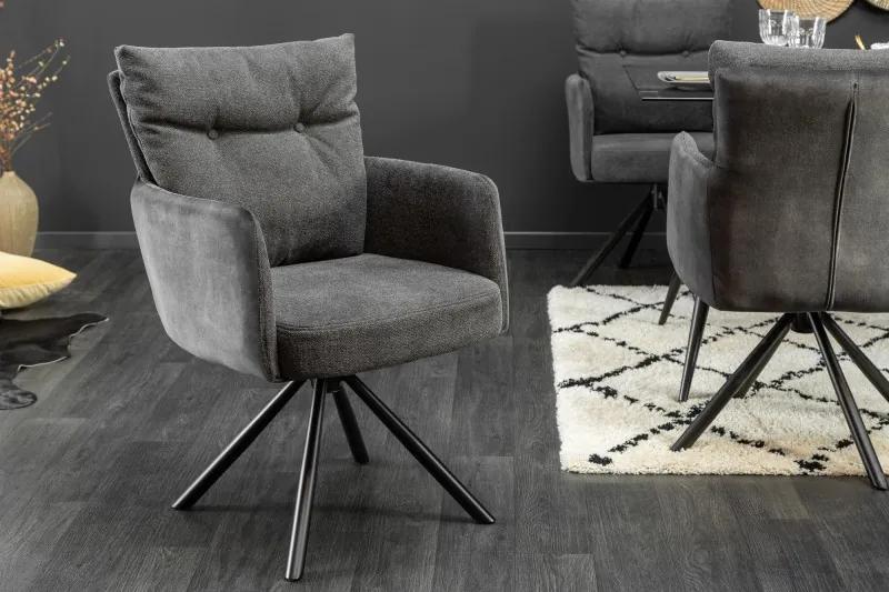 Dizajnová otočná stolička Maddison antracit