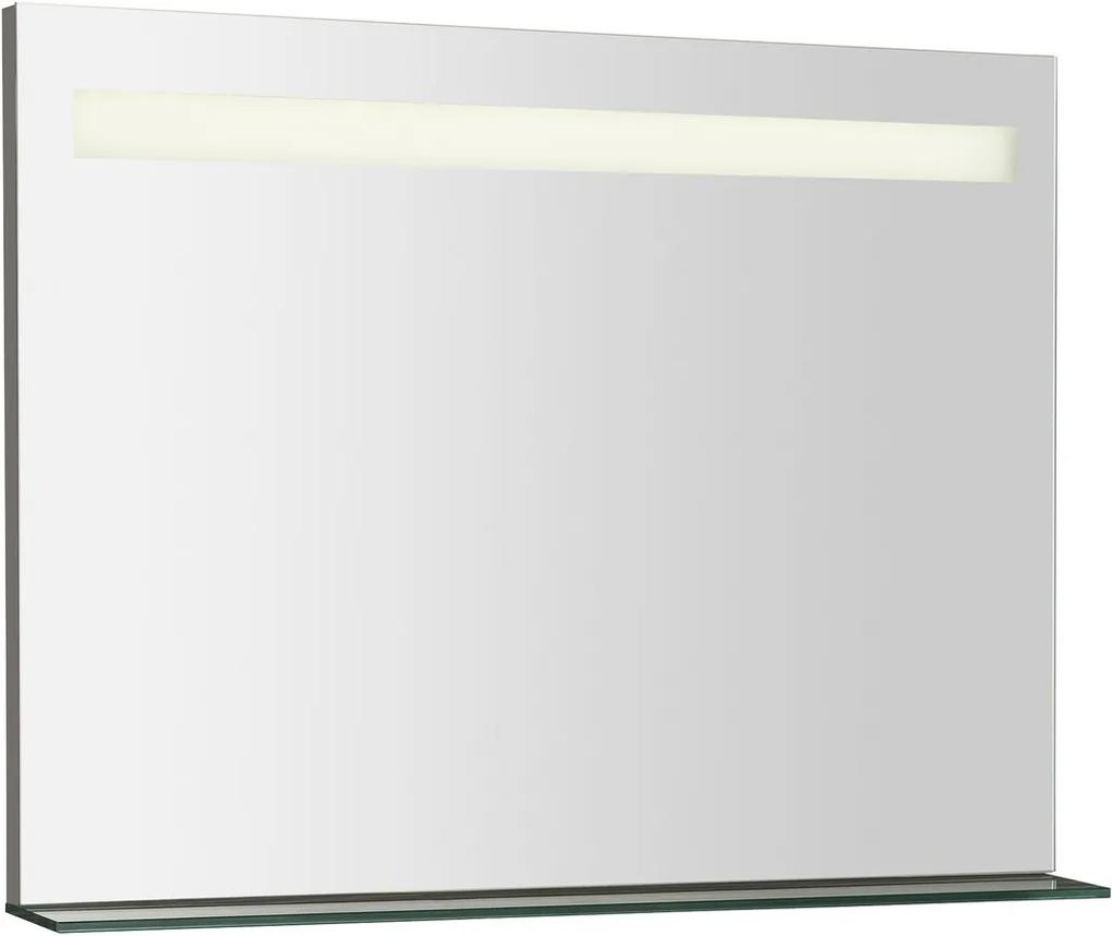 Breto BT080 zrkadlo s policou a LED osvetlením 80x60,8 mm