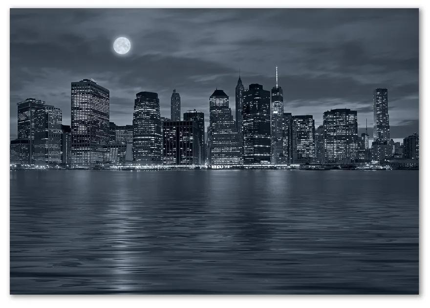 Fotoobraz na skle New York noc pl-osh-100x70-f-81226490