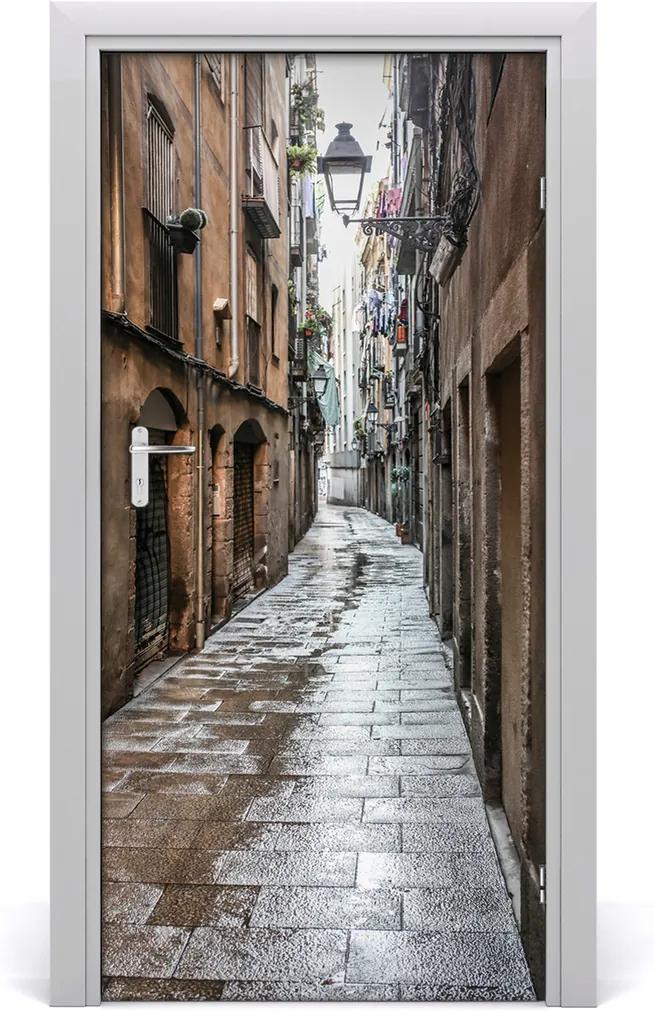 Fototapeta samolepící na dveře Stará ulička