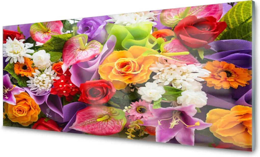 Obraz na akrylátovom skle sklenený Kvety