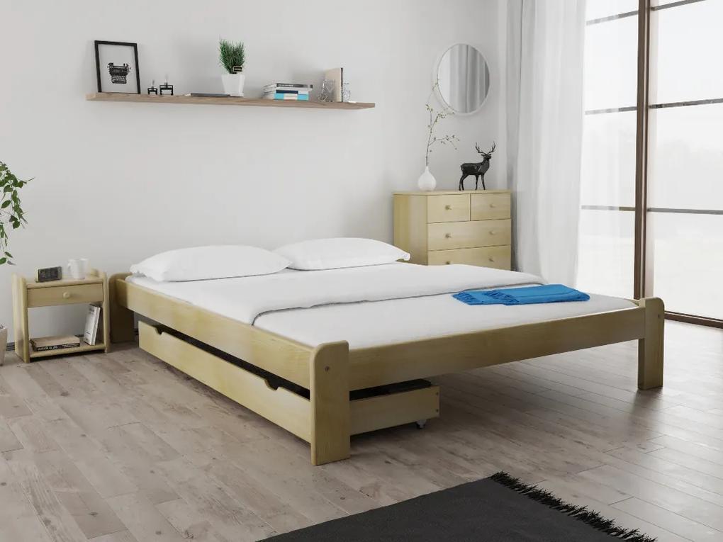 Posteľ Ada 120 x 200 cm, borovica Rošt: Bez roštu, Matrac: s matracom DELUXE 15 cm