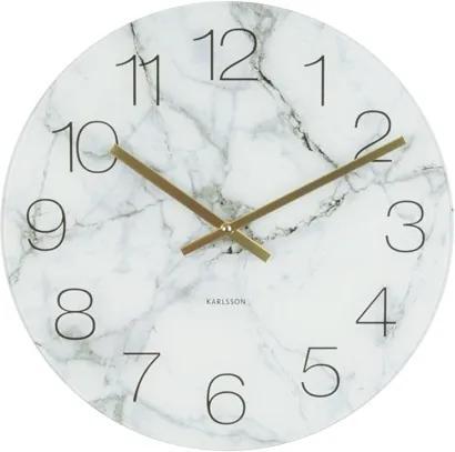 Nástěnné hodiny Marble, 40 cm, bílá Stfh-KA5618WH Time for home+